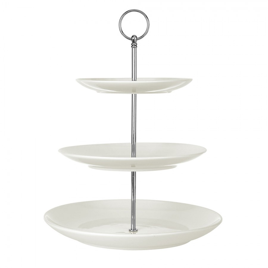 3 Tier White Cake Stand Hire