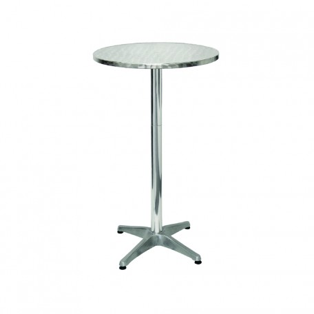 Cocktail Table Hire - Stainless Steel
