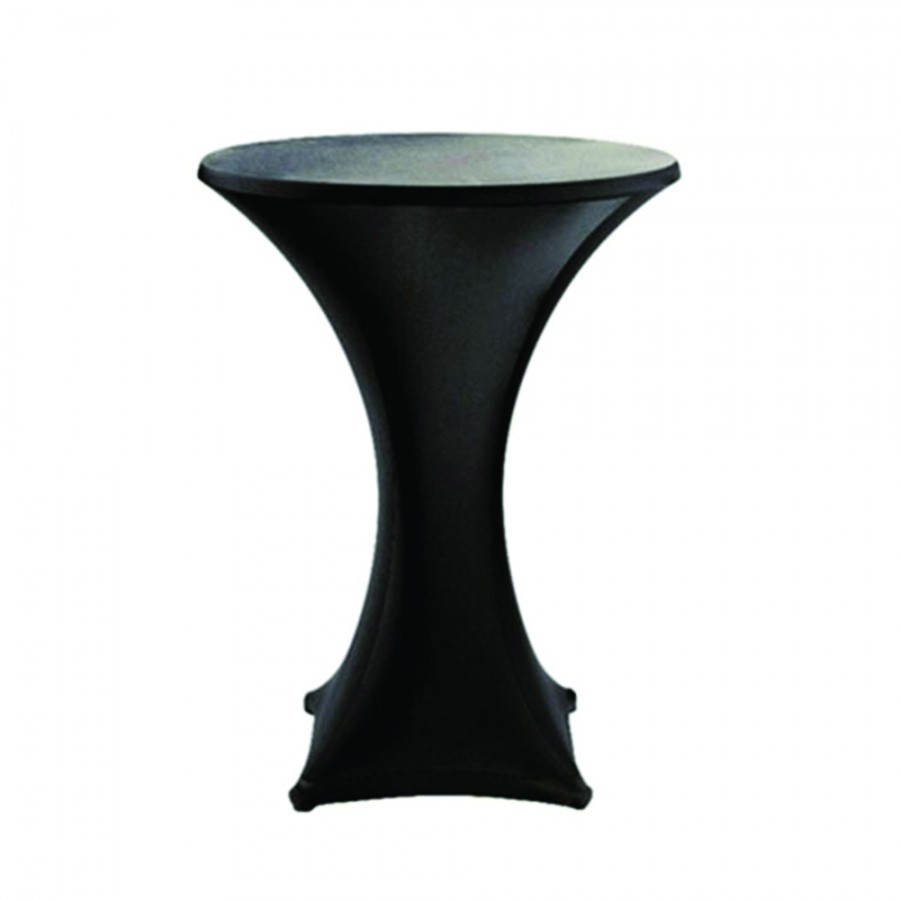 Cocktail Table Cover Hire - Black