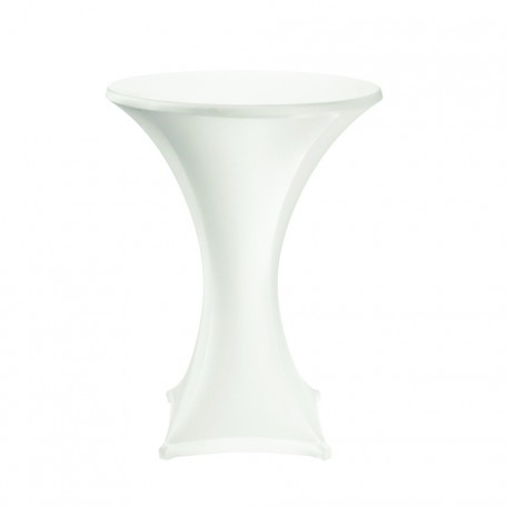 Cocktail Table Cover Hire - White