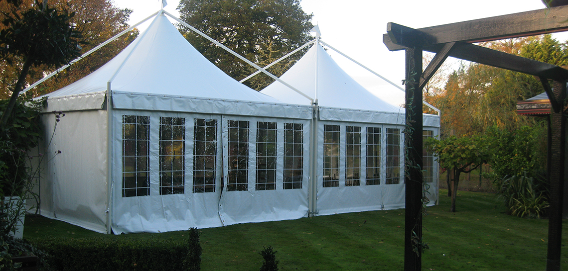 Pagoda Marquees in the Garden