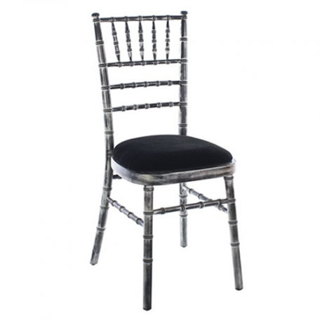 Chiavari Chair Silver & Blackwash