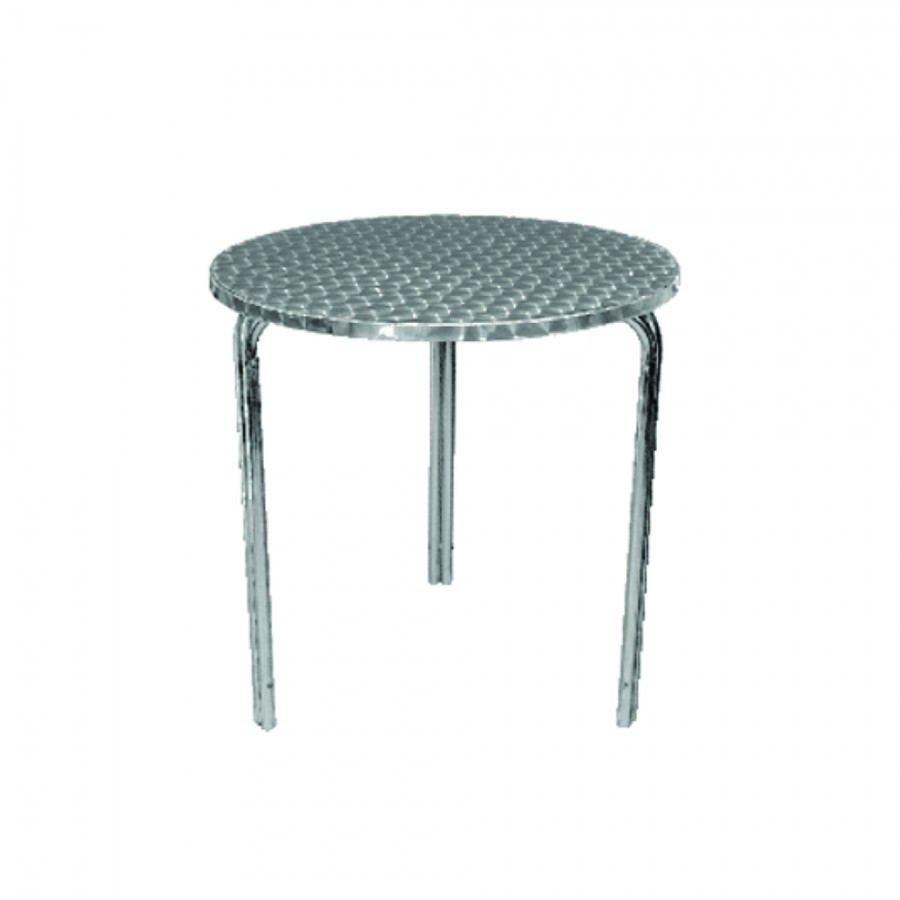 Bistro Table Hire - Stainless Steel