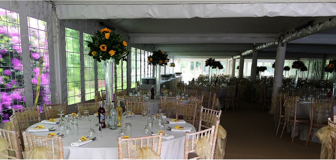 Inside Large Pagoda marquees