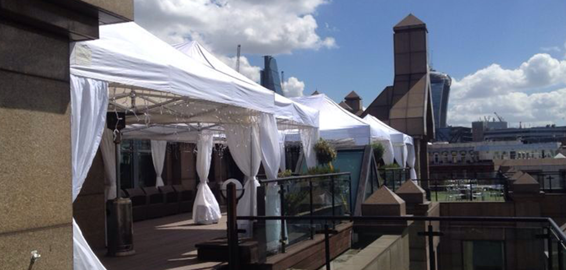 Rooftop marquee hire party