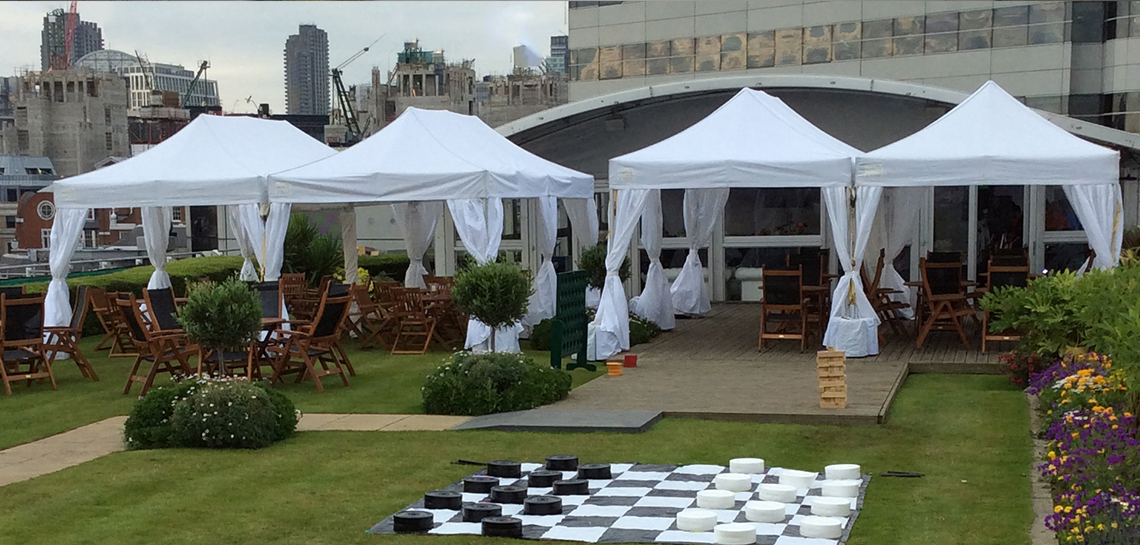 Hire marquees for rooftop parties