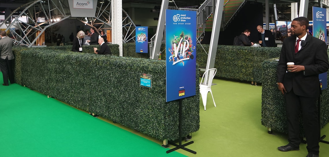 Hedges at event production show