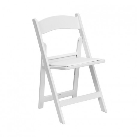 Resin White Folding Chair Hire