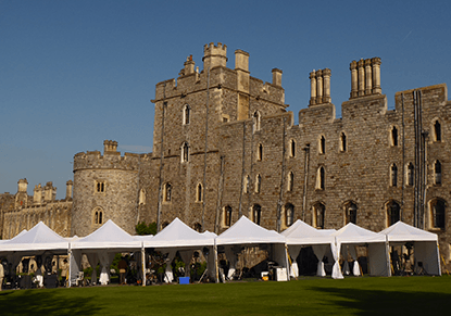 Our marquees hired at royal wedding